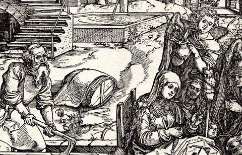 Albrecht Dürer: Der Aufenthalt in Ägypten (Detail)