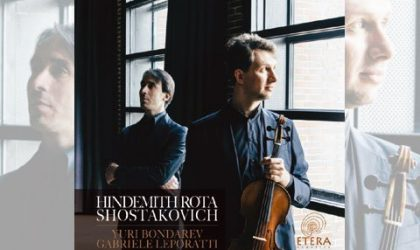 Gabriele Leporatti & Yuri Bondarev mit Werken für Bratsche und Klavier von Hindemith, Schostakowitsch und Rota